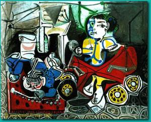 Pablo Picasso (1881-1973) | Claude et Paloma dessinant ...
