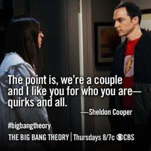 Can't really imagine Sheldon saying that.. But it's cute :)