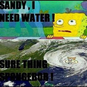 hurricane sandy spongebob
