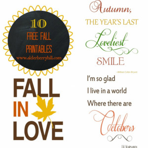 Cute Autumn Sayings Ten fall prints cute and
