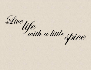 LITTLE SPICE Vinyl wall lettering cooking kitchen quotes and sayings ...