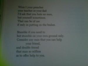 some good words from Rod McKuen