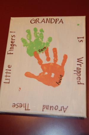 Grandparent's Day Handprint Round Up