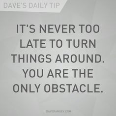 Great advice from Dave Ramsey More