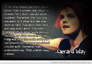 gerard Way Quote Picture by SetofftheRomance - Inspiring Photo