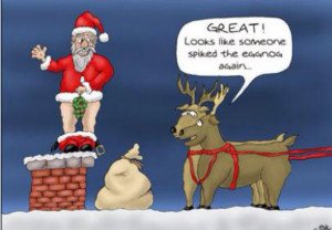 Funny adult christmas cartoon