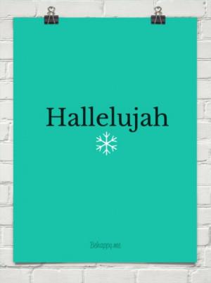 Hallelujah #153313