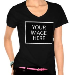 Design your own custom T Shirts V Neck Dark