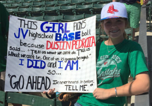 Inspired By MLB Star, Teenage Girl Trades Softball For Baseball