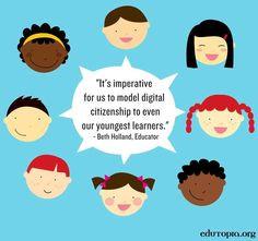 Model digital citizenship quote via www.Edutopia.org