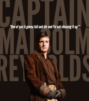 Favorite TV Characters - Captain Malcolm Reynolds [Firefly, FOX]