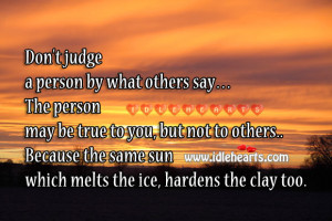 Never Judge A Person Quotes