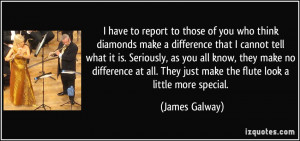 have to report to those of you who think diamonds make a difference ...