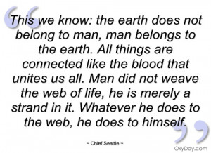this we know chief seattle