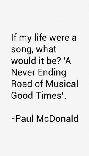 Paul McDonald Quotes & Sayings