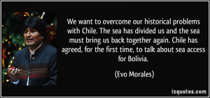 ... back together again. Chile has agreed, for the first time, to talk