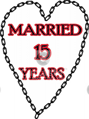 Marriage chains 15 years stock vector clipart, Humoristic marriage ...
