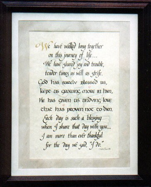 40th anniversary poem wedding