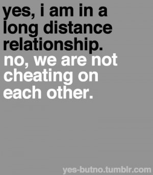 long distance relationship not cheating