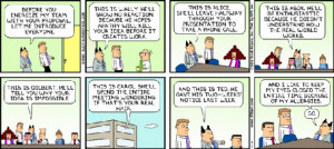 What is the name of Dilbert cartoon on time-wasting meetings?