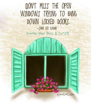 Open windows quote and illustration via www.Facebook.com ...