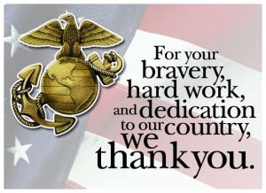 Holidays : Veterans Day : Thanks - Marine