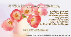 Happy Birthday Quotes Wishes Greetings Message for Friends Images ...