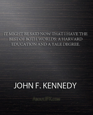 ... and a Yale degree.