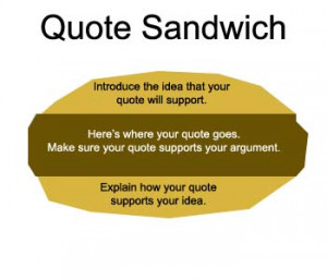 Week of November 14, Quote Sandwiches and other fun stuff