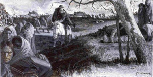 image from Brummett Echohawk, The Trail of Tears , in the Gilcrease ...