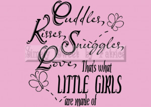 Details about LITTLE GIRLS Vinyl Wall Saying Lettering Quote Art ...