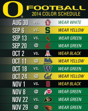 Oregon Ducks Black-Out Arizona and Stanford on 2014 Schedule