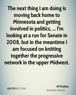 The next thing I am doing is moving back home to Minnesota and getting ...