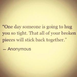 Hug me back together