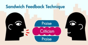 The Compliment Sandwich Feedback Technique, with Examples