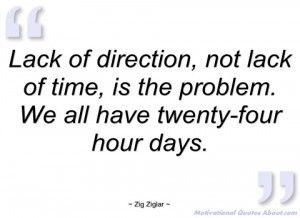 lack of direction zig ziglar