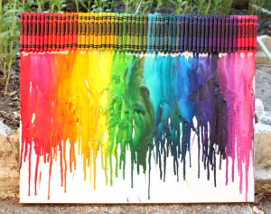 GORGEOUS melted crayon art from 52 Kitchen Adventures