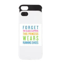 Cute Running quotes iPhone 5/5S Wallet Case