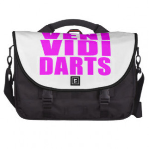Funny Girl Darts Players Quotes : Veni Vidi Darts Commuter Bags