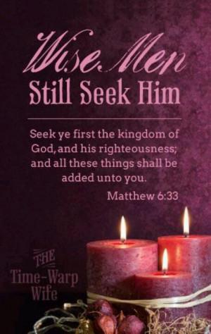Wise men seek Him