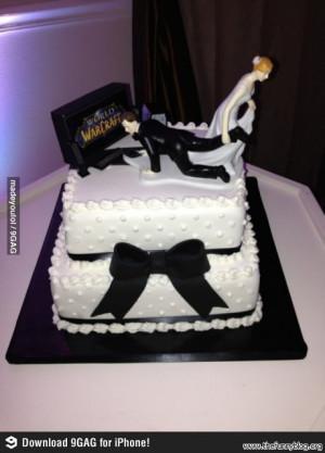 funny wow wedding cake
