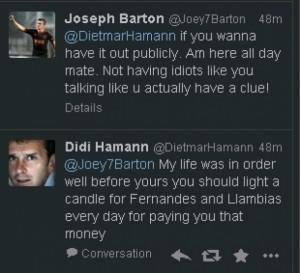 Joey Barton rages at Dietmar Hamann in latest Twitter meltdown