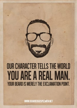 Beard Man is a Real Man   Quotes Posters