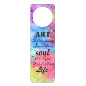 Cool Watercolour Famous Quote Door Hangers