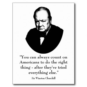 Winston Churchill and Funny Quote Postcards