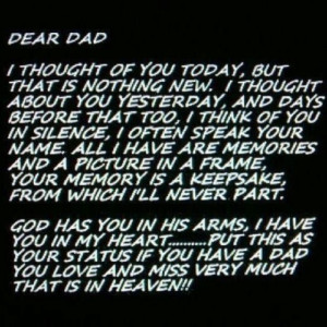 Miss you dad! Happy birthday xx
