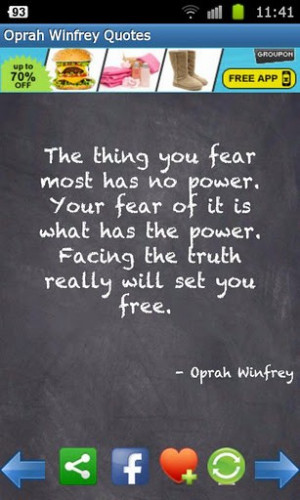 View bigger - x - Oprah Winfrey Quotes for Android screenshot