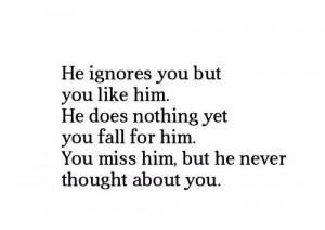 fall, ignore, love, quote, sad, true, truth