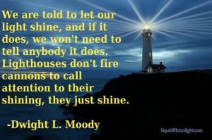 Christian quote. Lighthouse by D.L. Moody.