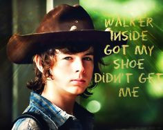 Carl Grimes (voice over) at 4x09 | The Walking Dead quotes